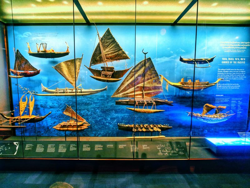 A variety of ships in the Pacific room | Bernice Pauahi Bishop Museum
