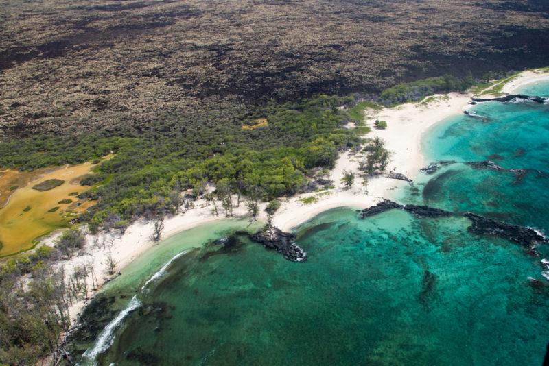 Beautiful Makalawena beach on the Big island.