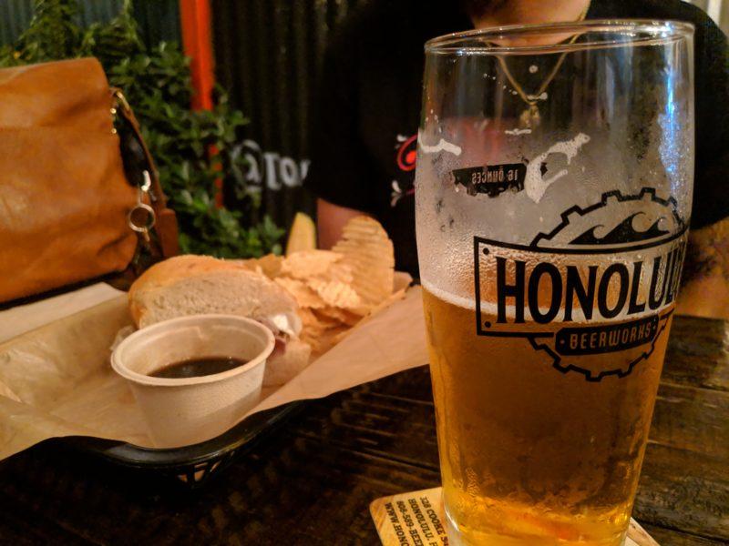 The beer and food at Honolulu Beerworks