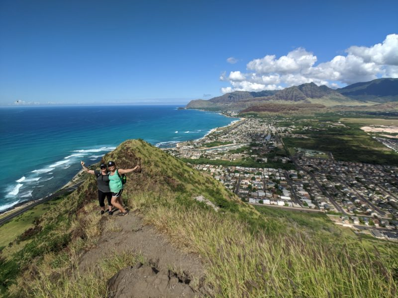 The view from the pink pillbox hike.