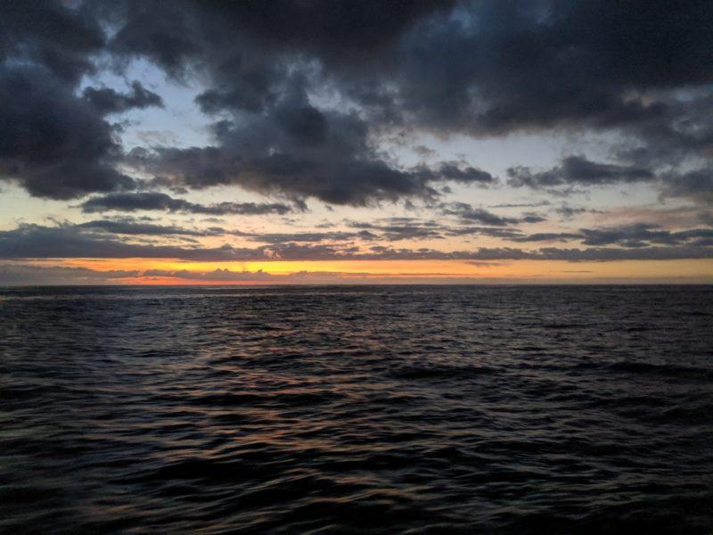 Sunset from the Kai Oli Oli.