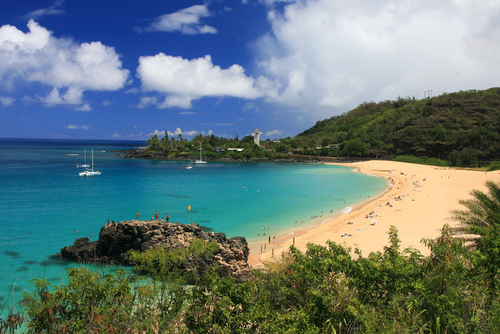 Waimea Bay For A Beautiful Beach Day