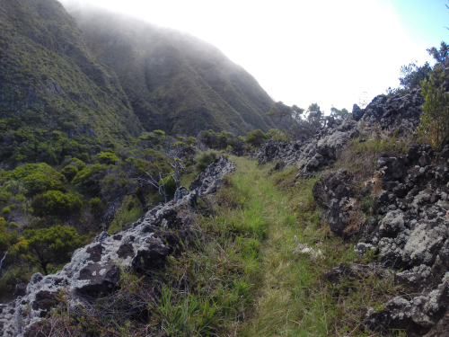 Hiking the Kaupo Gap Trail in Kula, Maui.