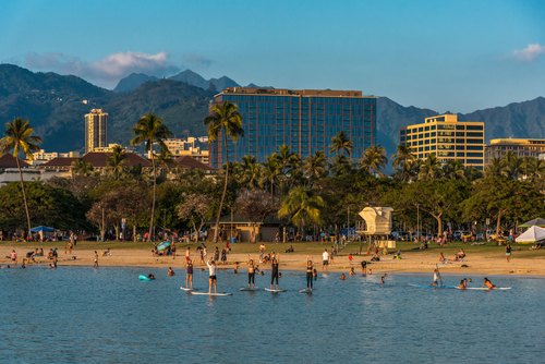 Best beaches in Hawaii: Ala Moana Beach. Hawaii travel. Things to do in Oahu. Things to do in Hawaii.