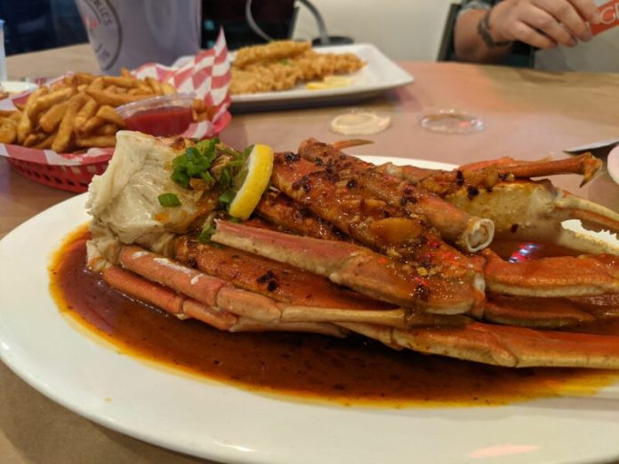My plate of snow crab legs hit the spot.