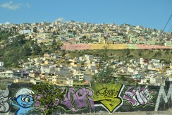 The slums of Quito