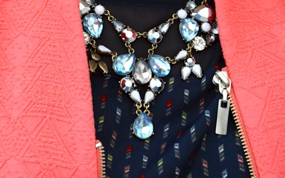 Sheer-Panel Dress