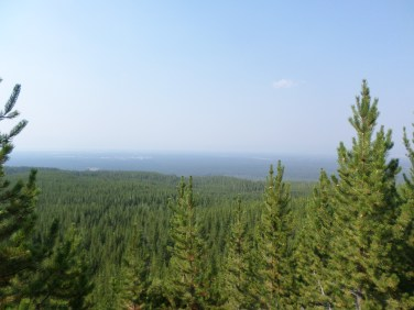 Gorgeous scenery...It was smokey that day, and my camera doesn't do it justice.