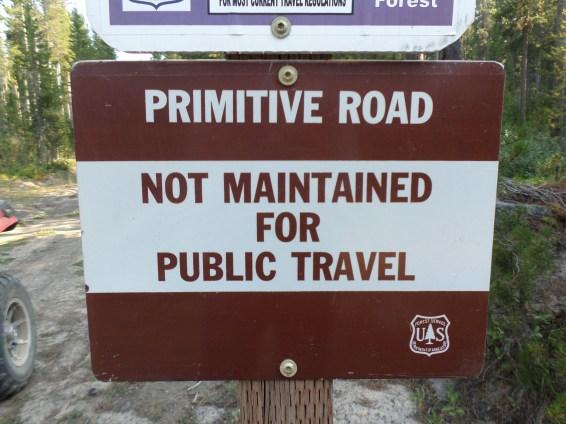 YEP that's right! Primitive road....