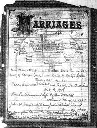 A Marriage Record in An Old Bible