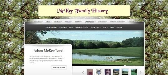 Clan McKee webpage screen shot