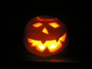 Pumpkins are easier to carve. The tradition began in the early 19th Century