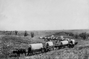 By creating a timeline, I was able to determine the approximate time my ancestors moved west on the wagon train.