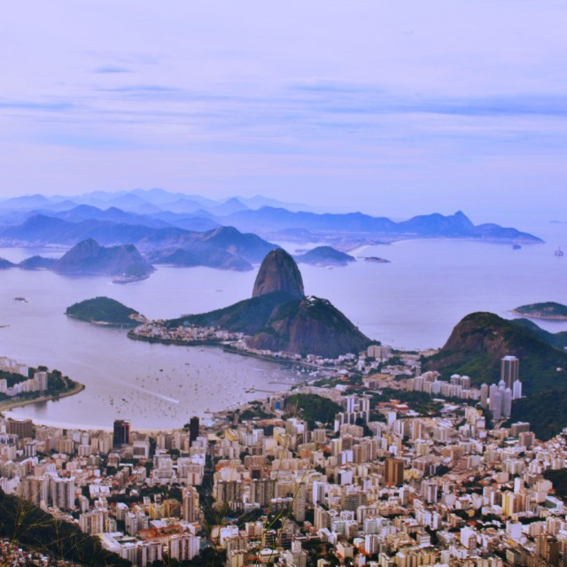 View from Corcovado Mountain, Rio travel guide via A Lo Profile