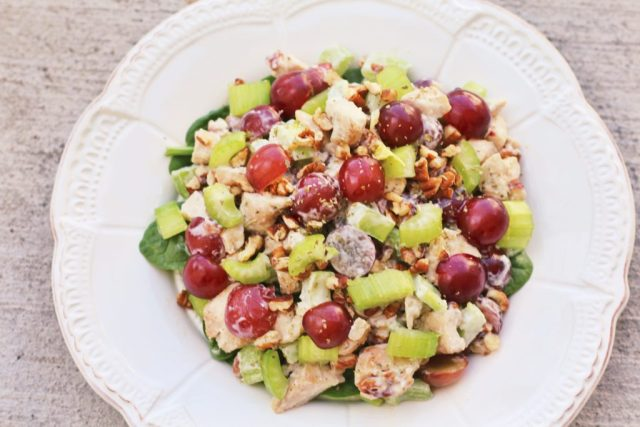 Chicken Salad Recipe (that is dairy free + Whole 30 approved) via A Lo Profile