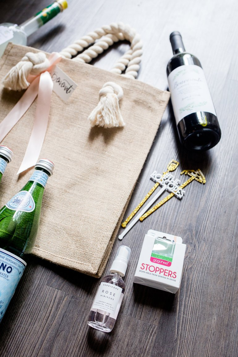 Wedding Welcome Bags: sharing ours for our Italy destination wedding + tips on what to put in yours.