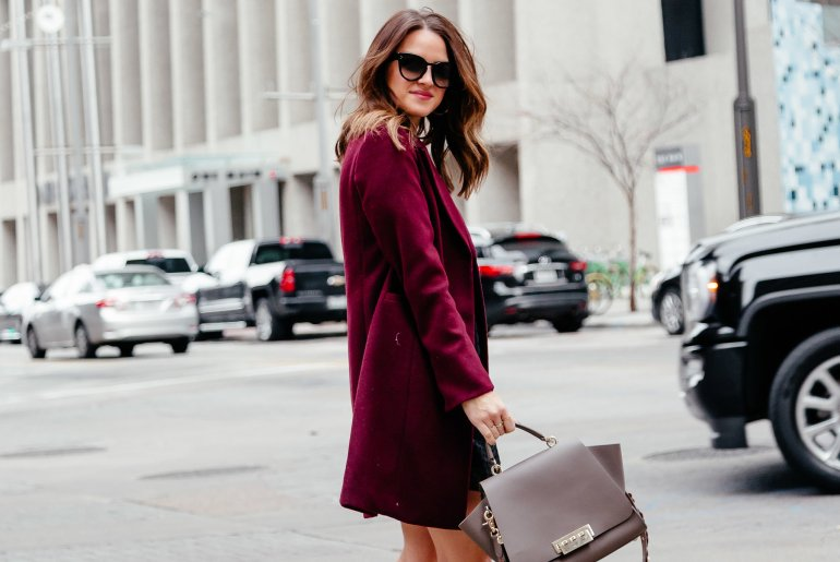 Dallas blogger sharing a little black work dress paired with a burgundy coat and pumps for Workwear Wednesday and 10+ other options of work-approved black dresses. Click through to shop them all!