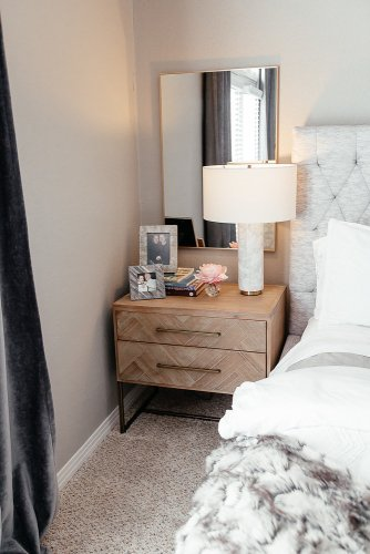 Our Bedroom: Sharing our bedroom decor after we finished decorating including where everything is from, my thoughts on the decorating process, and what else is to come! #bedroom #homedecor #bedroomdecor #neutraldecor