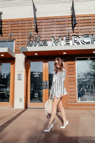 Spring Sets: Dallas blogger sharing a roundup of the cutest two piece sets for spring including short and pants suits and skirts. These make the easiest outfit when paired together or are adorable when styled separately. #springstyle #set #summersuit #stripes #twopieceset
