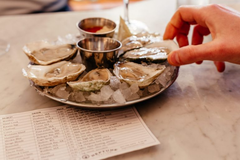 Raw Oysters from Neptune Oyster Bar via A Lo Profile's Boston Travel Guide