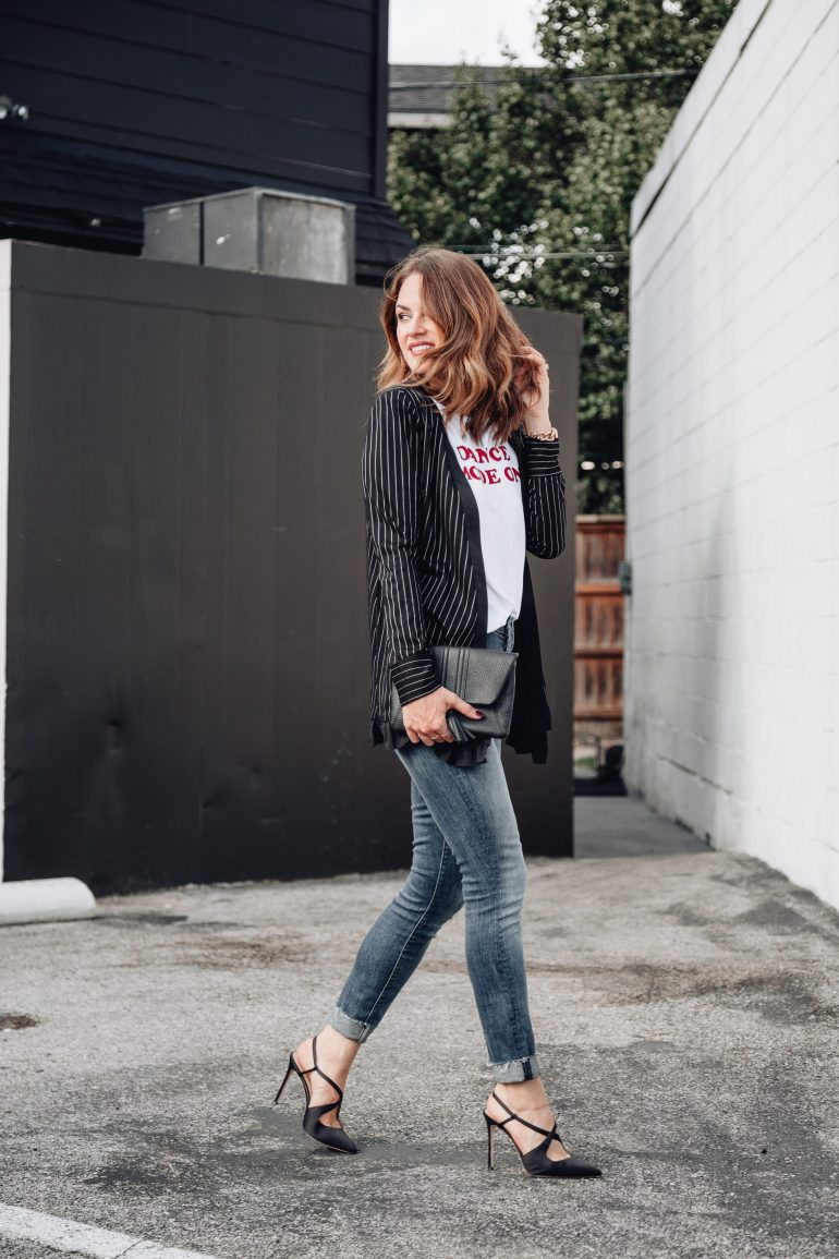 Sharing an adorable Dance Mode On tank with a ruffle striped blazer from BCBGeneration at Macy's. Plus, a few other cute pieces from the fall line.
