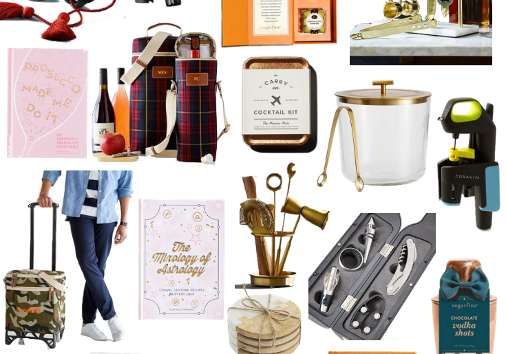 Sharing gifts for the cocktail lover in today's gift guide featuring gifts for the whiskey lover, people who love wine, and anyone who loves craft cocktails. There is something for everyone!