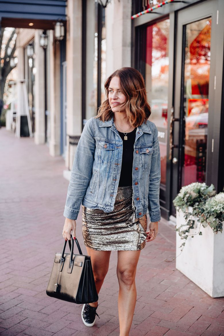 How to dress down sequins: Talking about five ways to dress down sequins so that they aren't just for New Years Eve or a trip to Las Vegas.