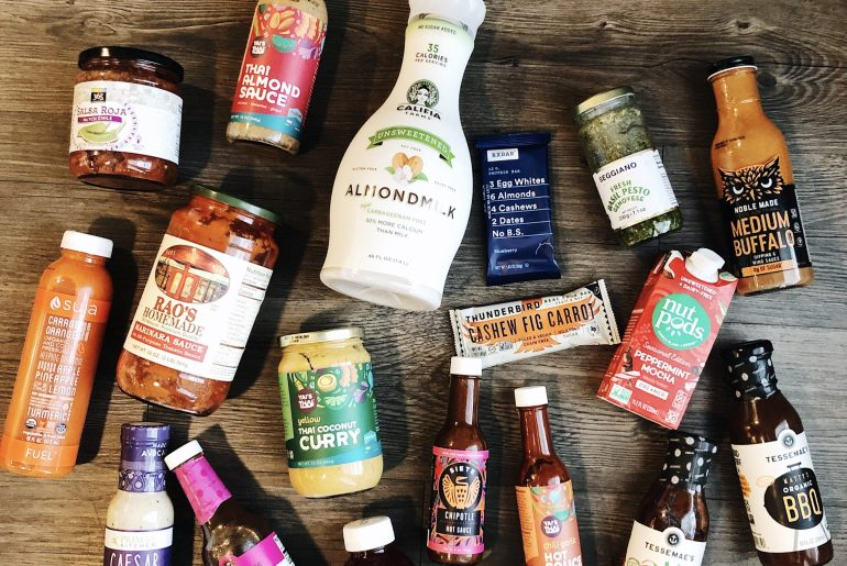Sharing my Whole 30 essentials and what I shop for including store bought salad dressings, snacks, sauces, helpful kitchen supplies, and more!
