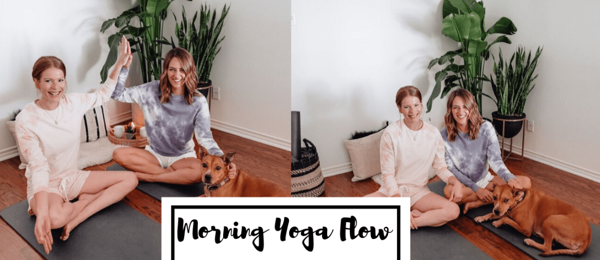 Sharing a morning yoga flow video that I made with my friend & yoga teacher @kttheyogi that you can watch again & again to help you start your day on a positive note.