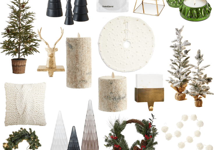 Sharing a round up of the cutest Christmas decor including everything from wreaths & garlands to candles & decorative objects!