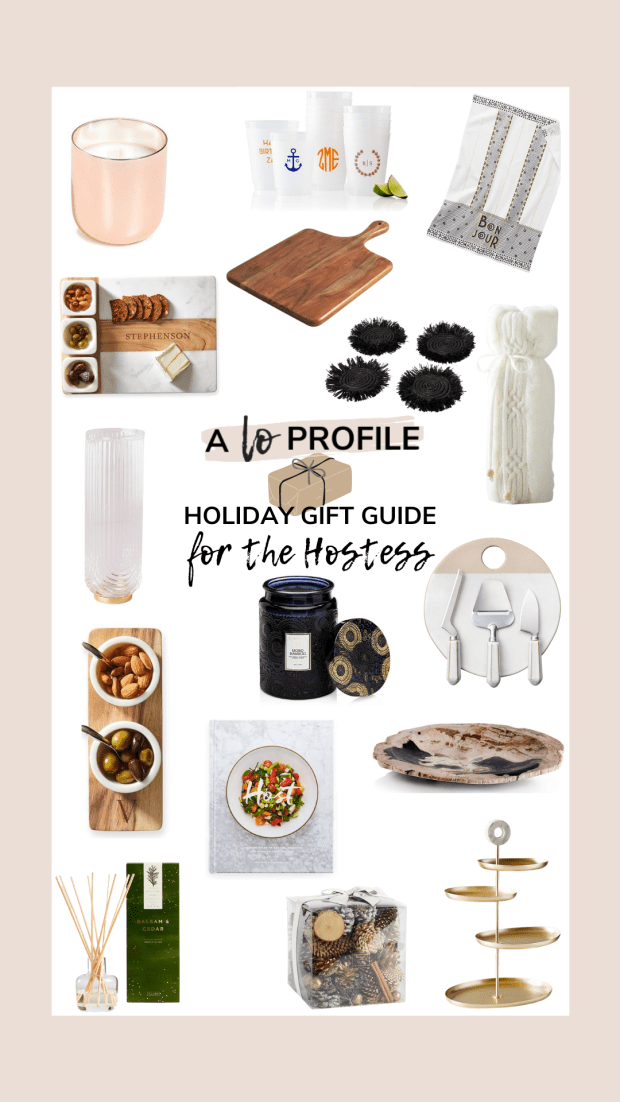 Sharing a roundup of gifts for the hostess with the mostess in your life including everything from cute wine bags to candles & home goods.