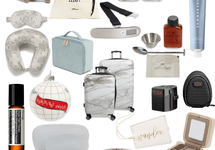 Sharing a collage full of ideas that would make great gifts for the jetsetter in your life AKA the person who loves to travel.