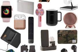 Sharing a roundup of the best gifts for the tech junkie in your life in a college featuring everything from phone accessories to home items & must haves.