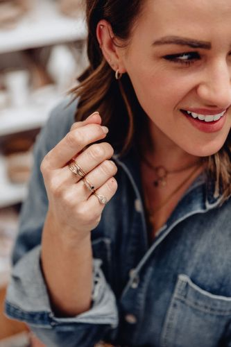 Sharing a roundup of my everyday jewelry, 9 dainty gold jewelry brands I wear every day, & where to shop for dainty gold jewelry.