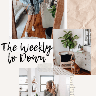 Sharing The Weekly Lo Down 1 with products I'm loving, things I talked about on stories, current sales, discount codes, & recent blog posts.