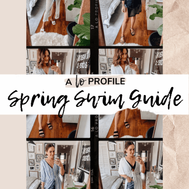 Sharing a roundup of the cutest swimsuits in every style and budget in my Spring Swimwear Guide for 2020. Plus, I'm also sharing cute swim accessories!