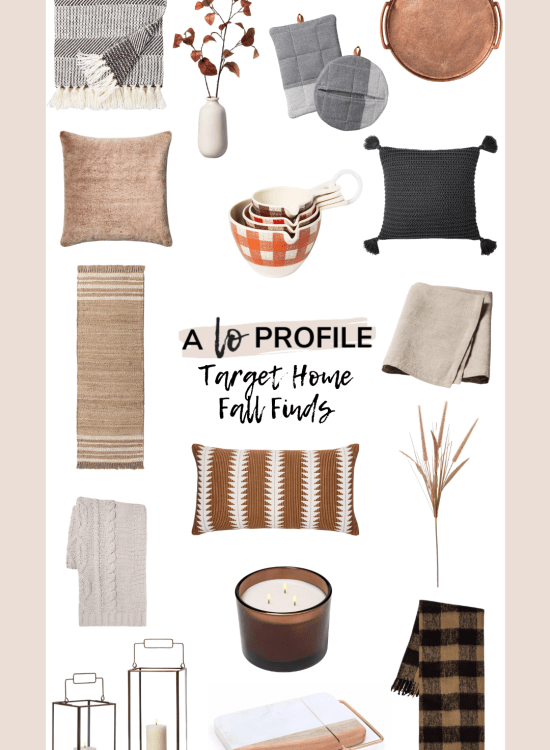 Sharing an easy to shop collage featuring Target home fall finds with tons of affordable items to help you update your home for Fall.