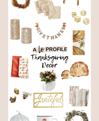Sharing a roundup for the cutest Thanksgiving decor for your house & tablescape. I figured Thanksgiving needed it's moment before we jump into Christmas!