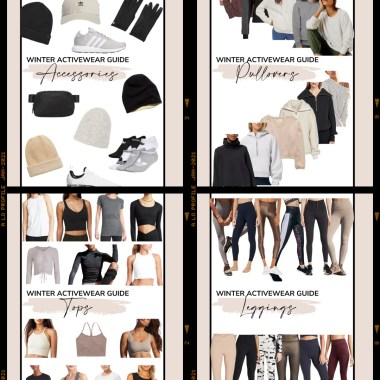Winter Activewear Guide sharing a roundup of the cutest winter athleisure and workout outfits broken down by category and price.