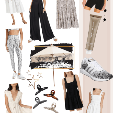 Sharing an easy to shop collage with my February wishlist items featuring tons of pieces that have me so excited for Spring weather.