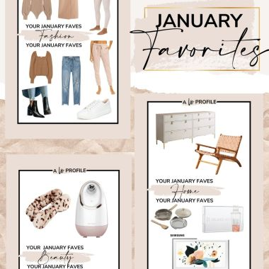 Sharing your January favorites broken down by category featuring the items that you all clicked on & bought the most last month.