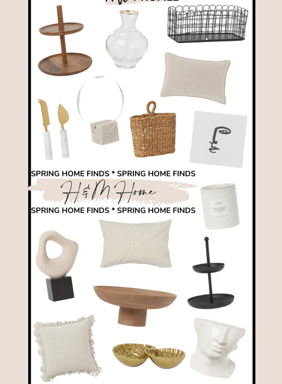 Sharing a roundup of affordable spring home finds from H&M in an easy to shop collage to help you refresh your home for a new season.