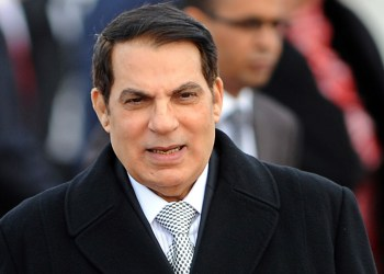 (FILES) A picture taken on December 13, 2010 shows Tunisian President Zine El Abidine Ben Ali at Tunis-Carthage airport. Zine El Abidine Ben Ali announced on January 13, 2011 he will not present his candidacy in the forthcoming presidential election. AFP PHOTO / FETHI BELAID (Photo credit should read FETHI BELAID/AFP/Getty Images)