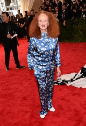 Grace Coddington in Michael Kors