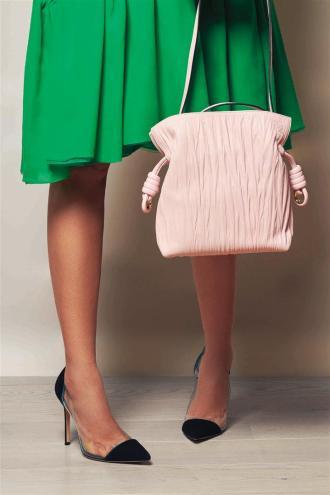 Dress: Delpozo Bag: Loewe Shoes: Gianvitto Rossi