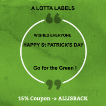 ALOTTALABELS ST PATRICKS DAY 2018