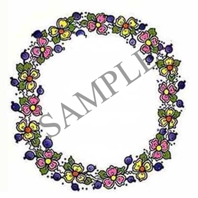Berries and Flowers Round Canning Label #B200