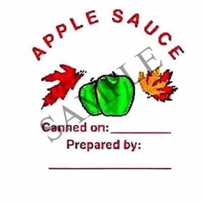 Apple Sauce Round Canning Label #L143