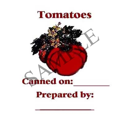 Tomatoes Round Canning Label #L149