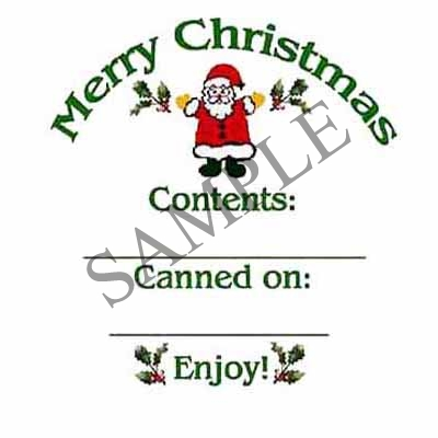 Santa Round Canning Label #L159